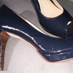 Cole Haan peep toe heels